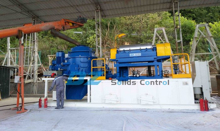 BZ oil gas drilling solids control system