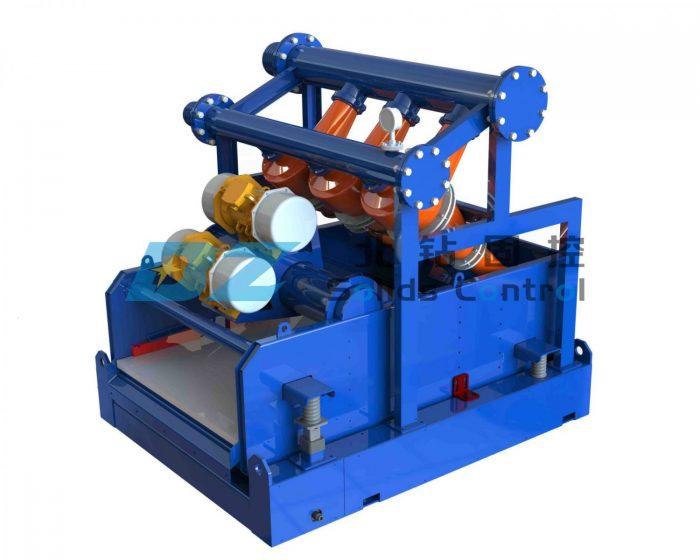 Desander for drilling fluid recycling